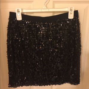 New With Tags Black Sparkling Skirt!